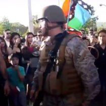 """""""Estamos con ustedes"""": militares respaldan movimiento social en Talca"""
