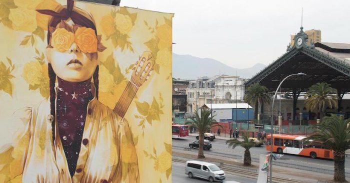 Muralista INTI realiza nuevo mural en Chile que retrata el despertar de Chile