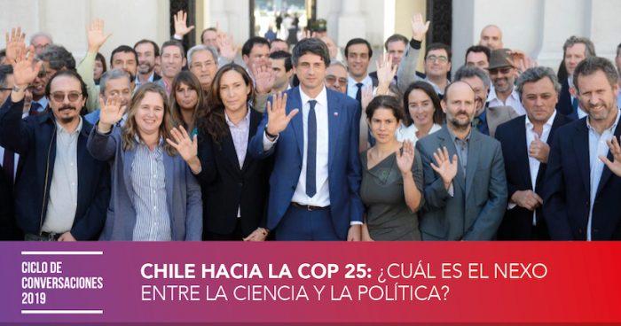 """Conversatorio """"Chile hacia la COP 25: ¿Cuál es el nexo entre la ciencia y la política?"""" en Espacio Público"""