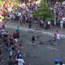 Partidarios de Fernández se enfrentaron en brutal gresca previo a las elecciones en Argentina