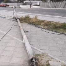 Casi 4 mil personas sin electricidad en La Serena y Coquimbo por caída de postes