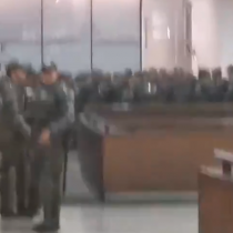 El masivo contingente policial en estación Baquedano para enfrentar la quinta jornada de evasiones masivas
