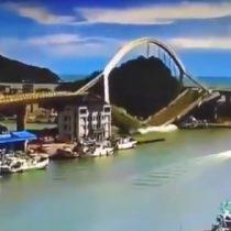 Impresionante registro: puente colapsa en Taiwán dejando al menos 10 desaparecidos