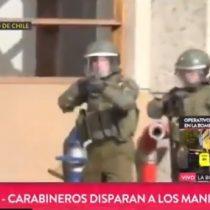 Carabinero dispara a periodista argentino en pleno despacho en vivo