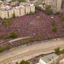 """La impactante vista aérea que da cuenta de la masividad de la """"marcha más grande de la historia"""""""