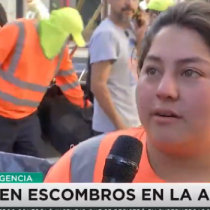 """Trabajadora de aseo municipal: """"Si no hubieran hecho toda esta bulla, el Gobierno no hubiera despertado"""""""