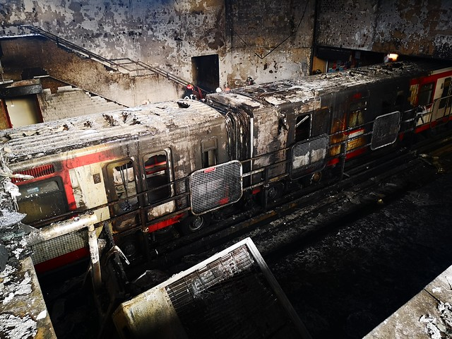 Fiscal revela que quema a estaciones de Metro se iniciaron en lugares de acceso restringido