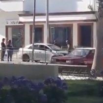 """""""Todo un montaje"""": testigos acusan a carabineros de prender fuego en banco de Coquimbo"""