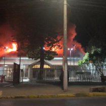 El fuego alcanzó El Patagual, el parque donde se celebra el Festival del Huaso de Olmué