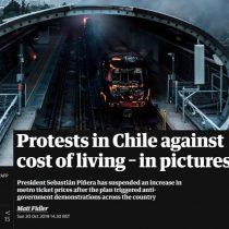 """""""Protestas contra el costo de la vida"""": los ojos de la prensa internacional sobre las manifestaciones en Chile"""