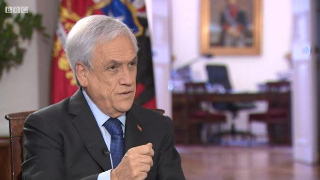 Piñera en entrevista con la BBC:
