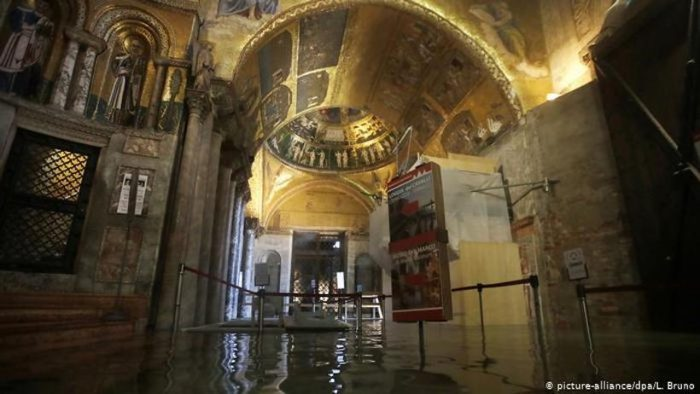 Inundación en Venecia: murales y frescos en peligro