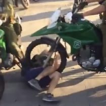 Video muestra triple atropello de carabineros a joven manifestante