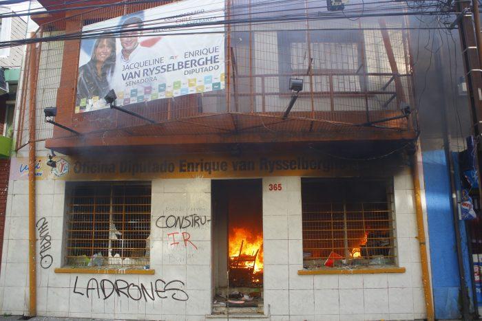 JVR lamenta incendio que sufrió su sede en Concepción: