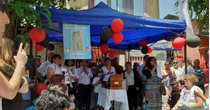En medio de la crisis y a 46 años de la detención por agentes del Estado se recuperan los restos de Celedonio Sepúlveda Labra