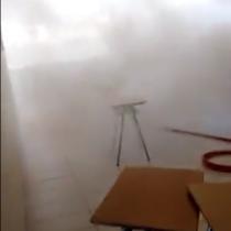 Con estudiantes en su interior: Carabineros lanzan gases lacrimógenos en las salas del Inacap de Concepción