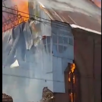 Incendian Iglesia San Francisco de Curicó, declarada Monumento Histórico en 1986