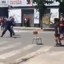 Locatarios del sector 10 de Julio atacan a estudiantes secundarios
