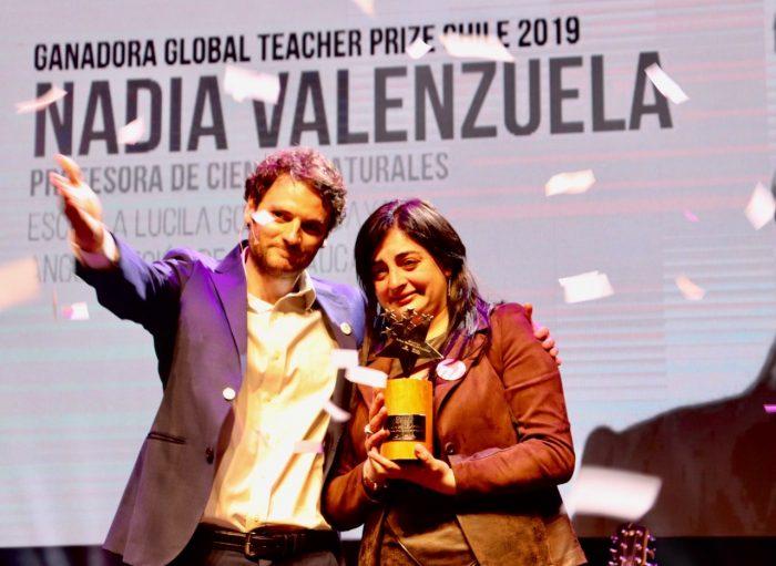 Profesora de Ciencias de la Región de la Araucanía gana el Global Teacher Prize Chile 2019