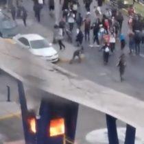 Grupo de individuos quemó guardia de la Fach en Iquique