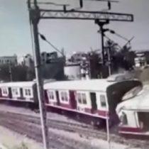 Impactante registro sobre choque de trenes en India