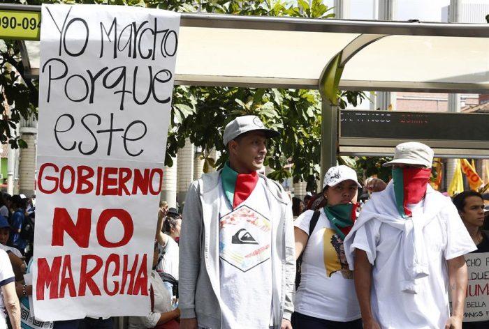 Colombianos salen a las calles para protestar contra el Gobierno de Iván Duque
