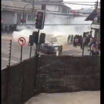 Carabineros lanza gases durante manifestación pacífica en Viña del Mar
