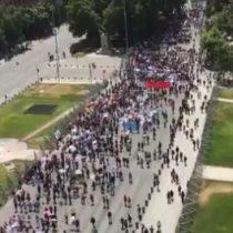 """Colegio de Profesores realiza """"Marcha por la Educación"""" en la Alameda e inicia paro nacional de 48 horas"""
