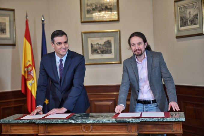 PSOE y Unidas Podemos logran un rápido acuerdo de Gobierno para frenar a la ultraderecha de Vox