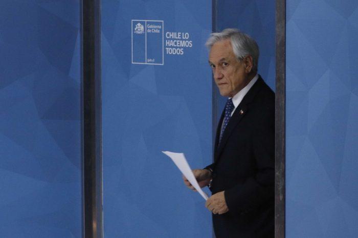 La soledad de Piñera en la más
