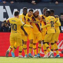 Vidal tras anotar en la victoria del Barcelona sobre el Leganés: