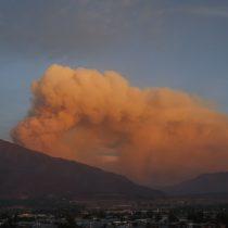 Incendio en Cajón del Maipo afectó alrededor de 365 hectáreas y se declaró Alerta Amarilla