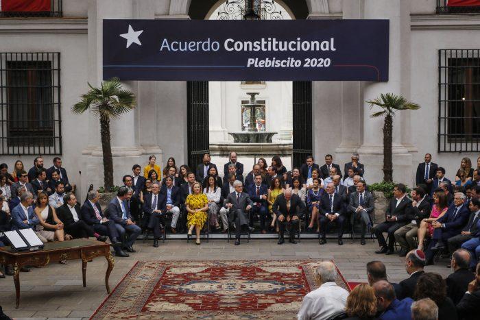 Sillas vacías: tensión en la derecha y ausencia de detractores marca promulgación del plebiscito constituyente