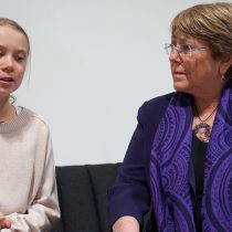 Bachelet se reunió con Greta Thunberg en Madrid: