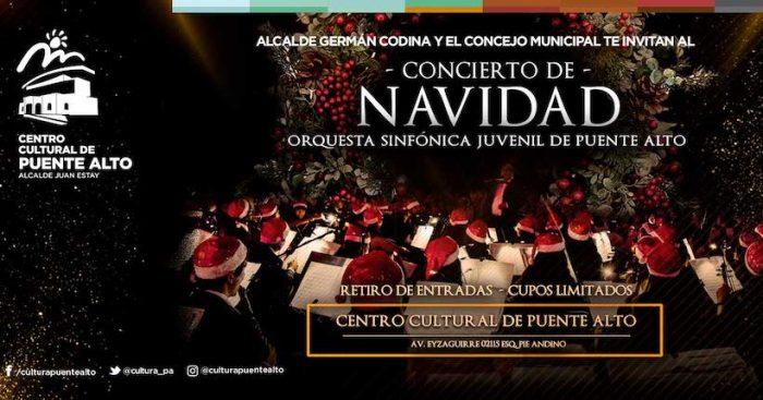 Concierto de Navidad de la Orquesta Sinfónica Juvenil de Puente Alto en Teatro del Centro Cultural de la comuna
