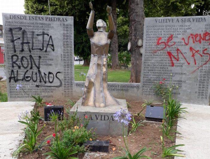 Atacan memoriales de detenidos desaparecidos en La Serena y Osorno