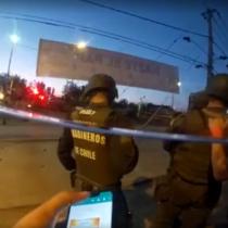 Registro muestra actuar de Carabineros ante una ráfaga de disparos