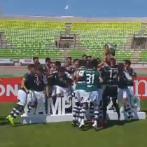 Justicia deportiva: Wanderers recibe la copa de campeón de la Primera B y festejó su ascenso