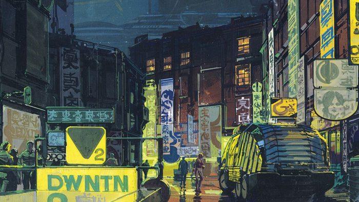 El presente influido por los escenarios urbanos diseñados por Syd Mead para Blade Runner