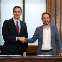 Sánchez e Iglesias presentaron hoy el programa para su Gobierno de coalición