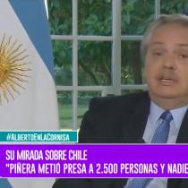 """Alberto Fernández compara la situación de Chile con la de Venezuela: """"Piñera metió presas a 2.500 personas y nadie dijo nada"""""""