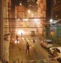 Dos policías resultaron heridos luego de ser alcanzados por bombas molotov en Valparaíso