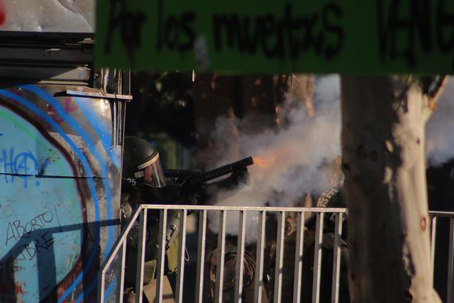 En riesgo vital sigue la menor golpeada por lacrimógena en la manifestación de Plaza Italia