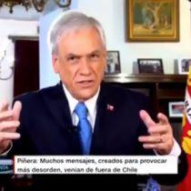 """La entrevista donde Piñera relativiza los registros de violaciones a los DD.HH: """"Hay muchos videos que son filmados fuera de Chile"""""""