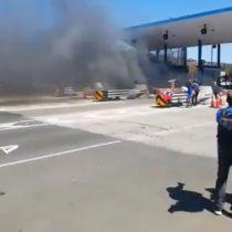 No toleraron el alza: desconocidos queman casetas de peaje que conecta Ovalle con La Serena