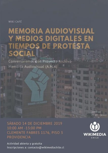"""Wikicafé: """"Memoria digital y medios audiovisuales"""" en Wikimedia"""