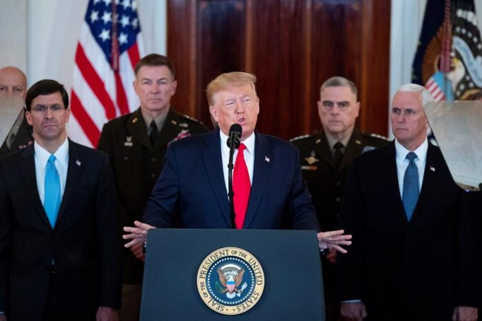 Trump descarta muertos tras ataque iraní y anuncia