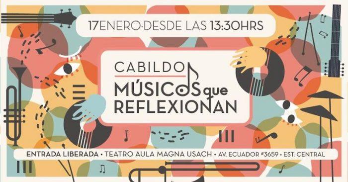 """Encuentro """"Músicxs que reflexionan""""en Teatro Aula Magna Usach"""