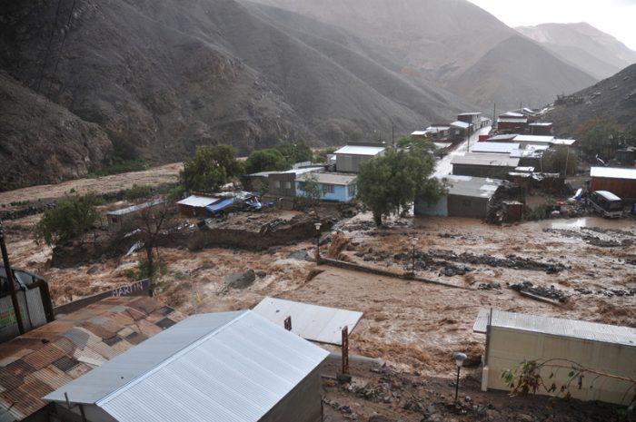 """Autoridades en alerta debido a las fuertes lluvias del """"Invierno Altiplánico"""" en el Norte Grande del país"""
