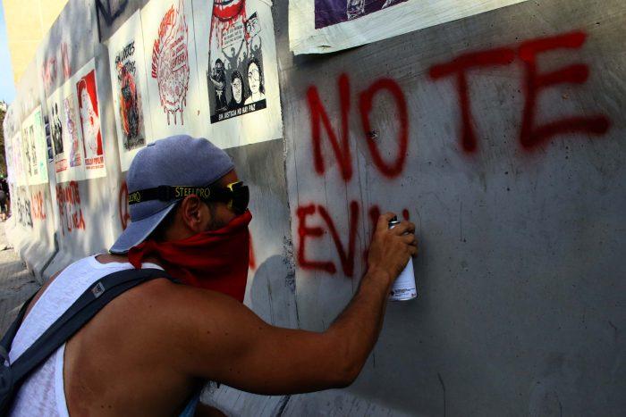 Nuevo viernes de protesta ciudadana e incidentes en el sector de Plaza Italia